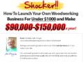 Your own Woodworking Business $9000~$15000 a year